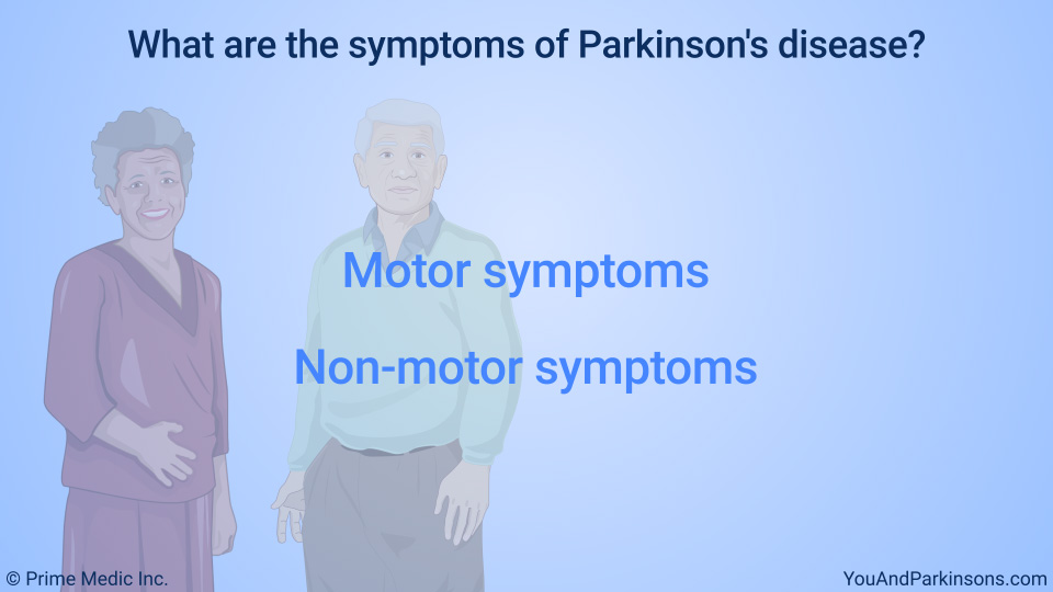 What are the symptoms of Parkinson's disease?