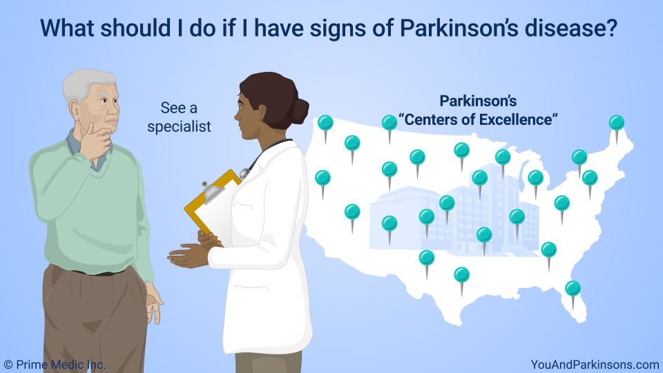 What should I do if I have signs of Parkinson's disease?